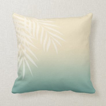 Beach Themed Summer Breeze Beach Wedding | mint blue Throw Pillow