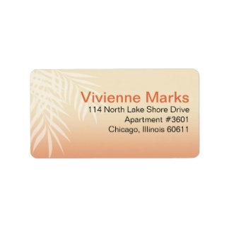 Summer Breeze Beach Wedding | peach Address Label