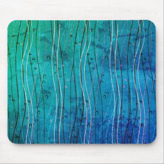 Summer Breeze (Blue Curving Lines) Mouse Pad