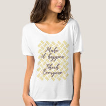 Summer Breeze floral Make It Happen T Shirt