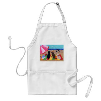 Summer Breeze Labradors Painting Adult Apron