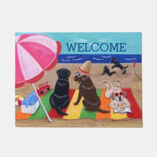 Summer Breeze Labradors Painting Doormat