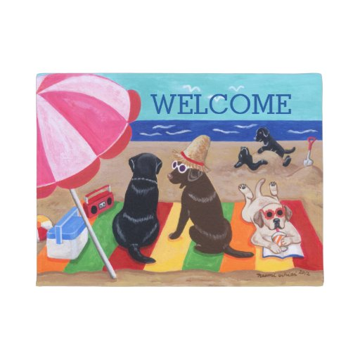 Summer Breeze Labradors Painting Doormat
