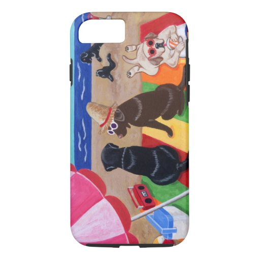 Summer Breeze Labradors Painting iPhone 7 Case