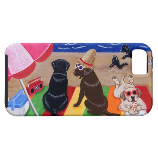 Summer Breeze Labradors Painting iPhone SE/5/5s Case