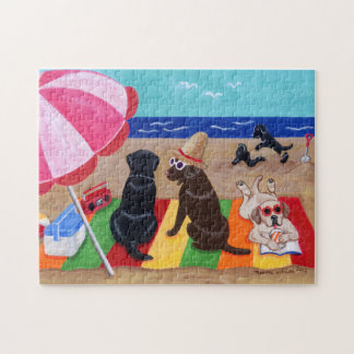 Summer Breeze Labradors Painting Jigsaw Puzzle