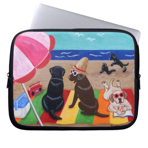 Summer Breeze Labradors Painting Laptop Sleeve