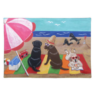 Summer Breeze Labradors Painting Placemat