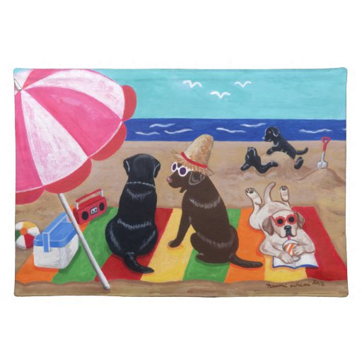 Summer Breeze Labradors Painting Placemat