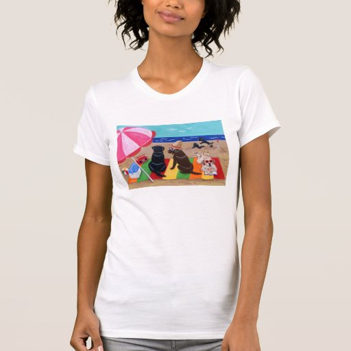 Summer Breeze Labradors Painting T-Shirt