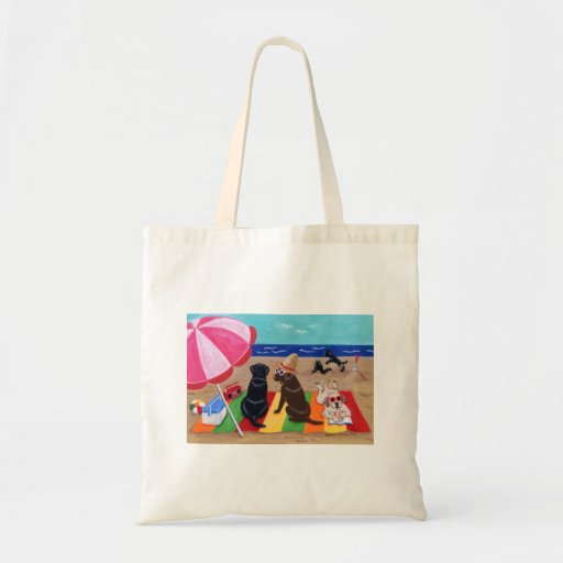 Summer Breeze Labradors Painting Tote Bag