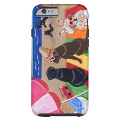 Summer Breeze Labradors Painting Tough iPhone 6 Case