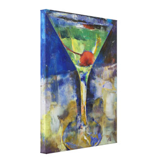 Summer Breeze Martini Painting Gallery Wrapped Canvas