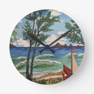 Summer Breeze Round Clock