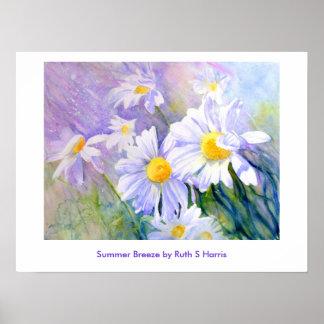 Summer Breeze, Summer Breeze by Ruth S Harris Poster