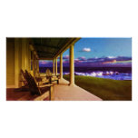 Summer Breezes Porch with Adirondeck Chairs Print