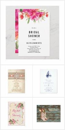 Summer Bridal Shower Invitations