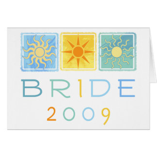 Summer Bride 2009 Greeting Card