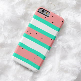 Summer bright coral mint watermelon stripe pattern barely there iPhone 6 case
