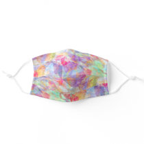 Summer Bright Pink Purple Blue Green Polygon Art Adult Cloth Face Mask