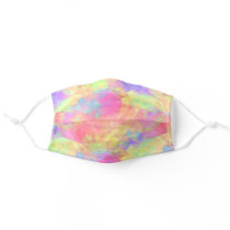 Summer Bright Purple Pink Blue Green Polygon Art Adult Cloth Face Mask