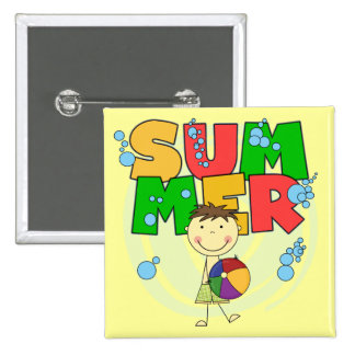 SUMMER - Brunette Boy T-shirts and Gifts Pins
