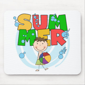 SUMMER - Brunette Boy T-shirts and Gifts Mouse Pad