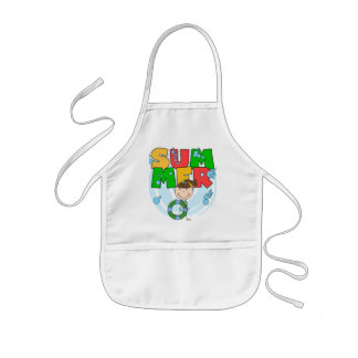 SUMMER - Brunette Girl Tshirts and Gifts Kids' Apron