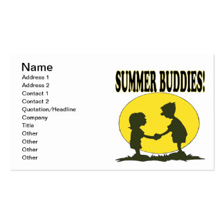 Summer Buddies Double-Sided Standard Business Cards (Pack Of 100)