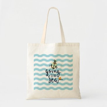 Beach Themed Summer Budget Tote with beautiful sea elements