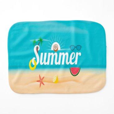 Beach Themed Summer Burp Cloth
