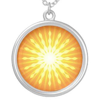 Summer Burst Round Pendant Necklace