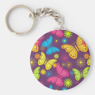 Summer butterflies keychain