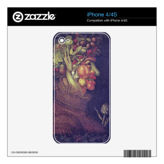 summer by Giuseppe Arcimboldo Decals For iPhone 4S