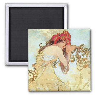 Summer by Mucha Fridge Magnets