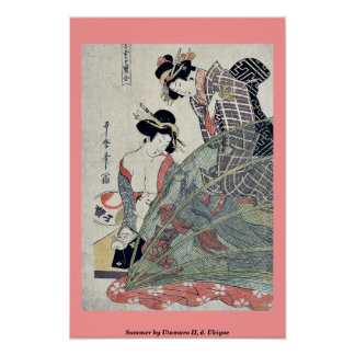 Summer by Utamaro II, d. Ukiyoe Poster