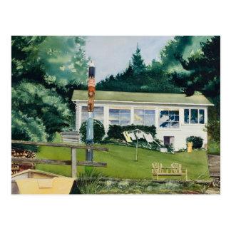 Summer Cabin - Suquamish Washington Post Card