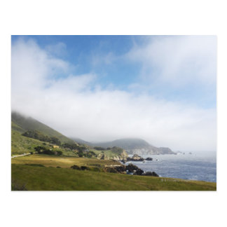 Summer california road trip on highway 1 along postcard