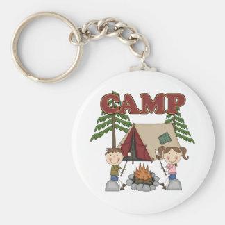 Summer Camp Basic Round Button Keychain