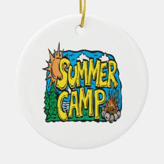 Summer Camp Ceramic Ornament