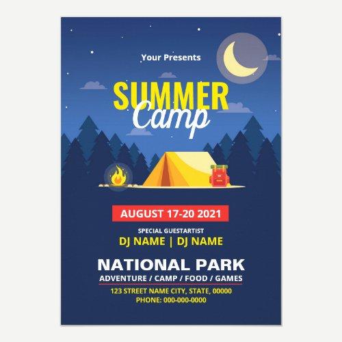 Summer Camp Flyer Invitation