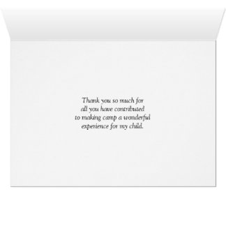 Summer Camp Leader Thank You Card
