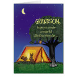 Summer Camp - Miss you - Grandson Card
