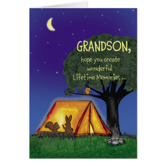 Summer Camp - Miss you - Grandson Greeting Card