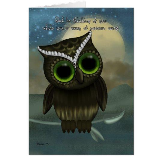 Astonishing Summer Camp Owl Be Thinking Of You Cute Owl Card Zazzle Com Funny Birthday Cards Online Drosicarndamsfinfo