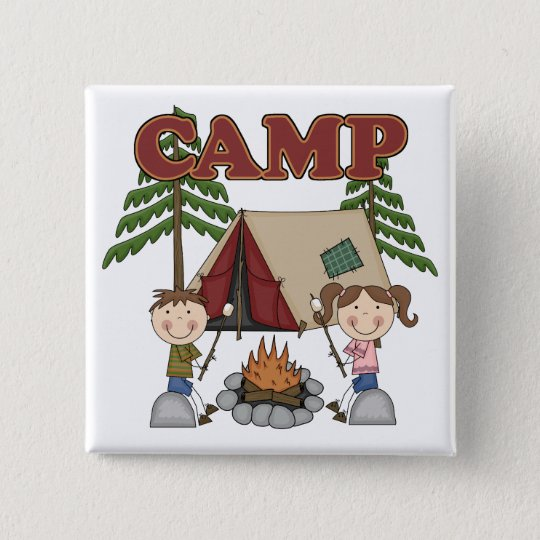 Summer Camp Pinback Button