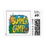 Summer Camp Postage Stamp