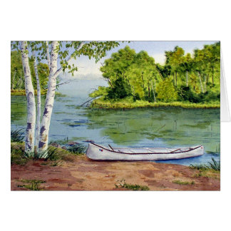 Summer Canoe Blank Greeting Card