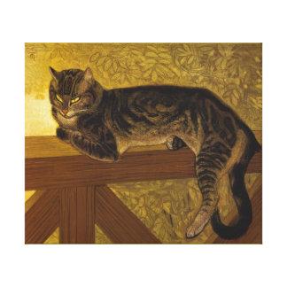Summer Cat on Balustrade Steinlen Canvas Print