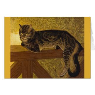 Summer Cat on Balustrade Steinlen Card